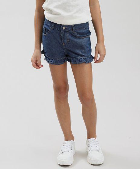 Short-Jeans-Infantil-com-Babado-Azul-Medio-9387363-Azul_Medio_1