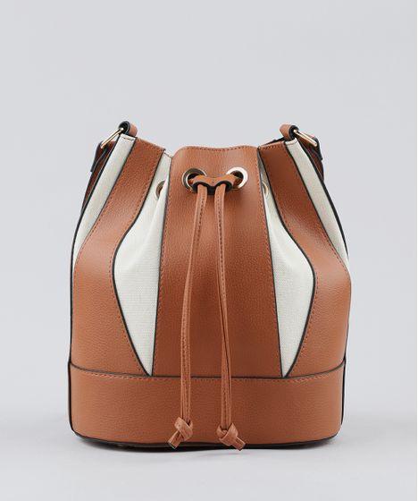 896abe9f8 Bolsa-Saco-Feminina-Transversal-com-Recortes-Caramelo-9361052- ...