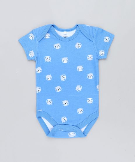 Body-Infantil-Estampado-de-Ursos-Manga-Curta-Gola-Careca-Azul-9198420-Azul_1