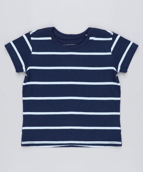 Camiseta-Infantil-Listrada-Manga-Curta-Gola-Careca-Azul-Marinho-9232202-Azul_Marinho_1