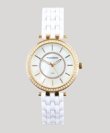 2bf029bc61d Relógio Analógico Mondaine Feminino - 53664LPMVDE2 Dourado - cea