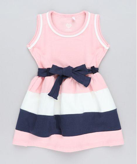 8b6d8a2ef Vestido-Infantil-com-Recortes-e-Laco-Rosa-9415472- ...