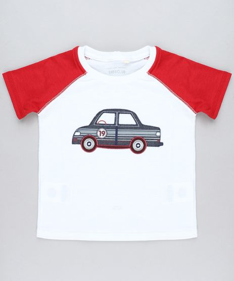 Camiseta-Infantil-Raglan-com-Carro-Bordado-Manga-Curta-Gola-Careca-Branca-9449987-Branco_1