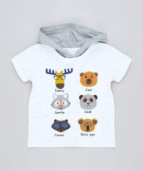 Camiseta-Infantil-Bichos-com-Estampa-Interativa-e-Capuz-Manga-Curta-Branca-9428860-Branco_1
