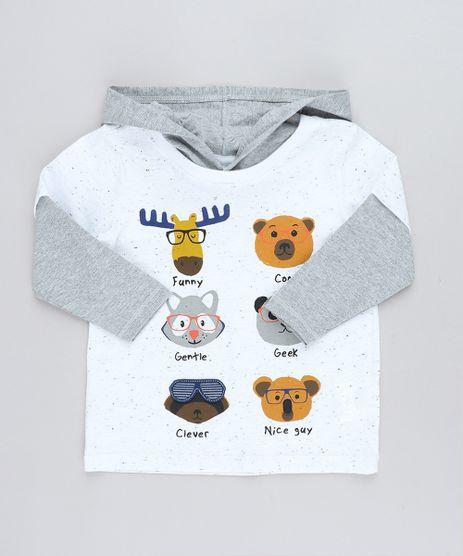 Camiseta-Infantil-Bichos-com-Estampa-Interativa-e-Capuz-Manga-Longa-Branca-9428859-Branco_1