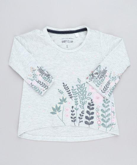 Blusa-Infantil-com-Estampa-Floral-Manga-Longa-Decote-Redondo-Cinza-Mescla-Claro-9429834-Cinza_Mescla_Claro_1