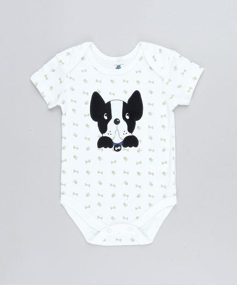 Body-Infantil-Cachorro-Estampado-de-Patinhas-Manga-Curta-Decote-Redondo-Off-White-9188449-Off_White_1