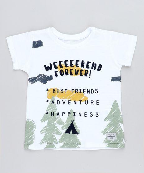 Camiseta-Infantil--Weekend-Forever--Manga-Curta-Gola-Careca-Branca-9441598-Branco_1