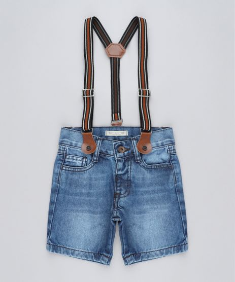 Bermuda-Jeans-Infantil-com-Suspensorio-Azul-Medio-9423971-Azul_Medio_1