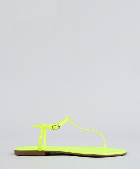 Rasteira-Feminina-em-Verniz-Amarela-Neon-9467143-Amarelo_Neon_1