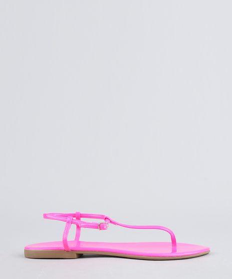 Rasteira-Feminina-em-Verniz-Rosa-Neon-9467151-Rosa_Neon_1