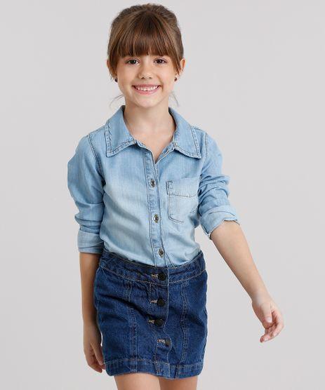 Camisa-Jeans-Infantil-com-Bolsos-Azul-Medio-9060563-Azul_Medio_1