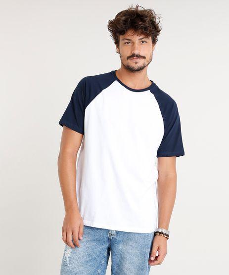 Camiseta-Masculina-Basica-Raglan-Manga-Curta-Gola-Careca- ecca6002eec37