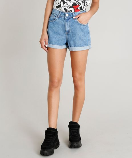 Short-Jeans-Feminino-Mom-Barra-Dobrada-Azul-Medio-9274697-Azul_Medio_1