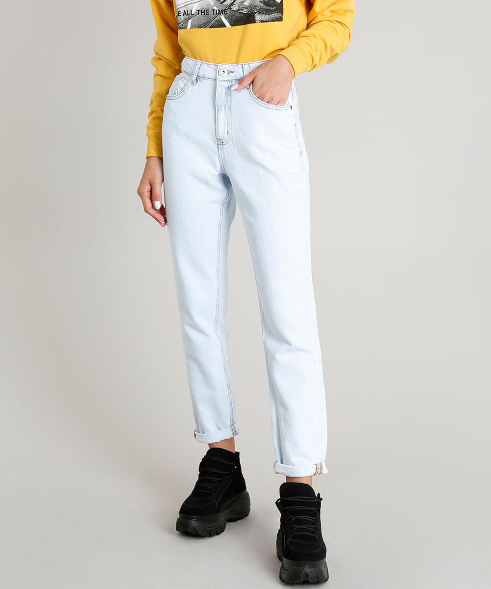 65d7669b8 Calça Jeans Feminina Mom Pants Azul Claro - ceacollections