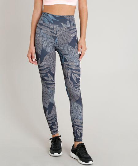 643f04e0b Menor preço em Calça Legging Feminina Esportiva Ace Estampada de Folhagem  com Proteção UV50+ Chumbo