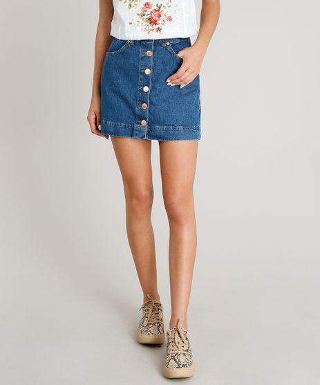 Saia-Jeans-Feminina-com-Botoes-Azul-Escuro-9463409-Azul_Escuro_1