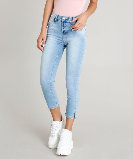 acd6457b7 Calca-Jeans-Feminina-Sawary-Cropped-Azul-Claro-9446786-