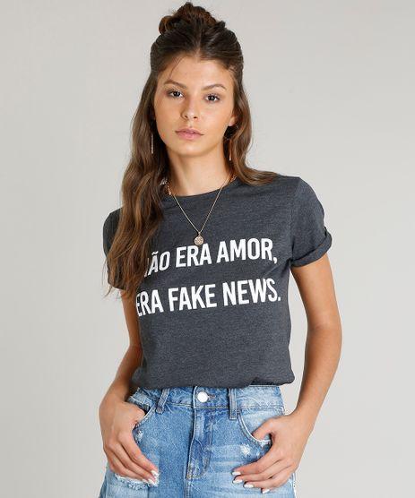 Blusa-Feminina--Era-Fake-News--Manga-Curta-Decote-Redondo-Cinza-Mescla-Escuro-9388565-Cinza_Mescla_Escuro_1
