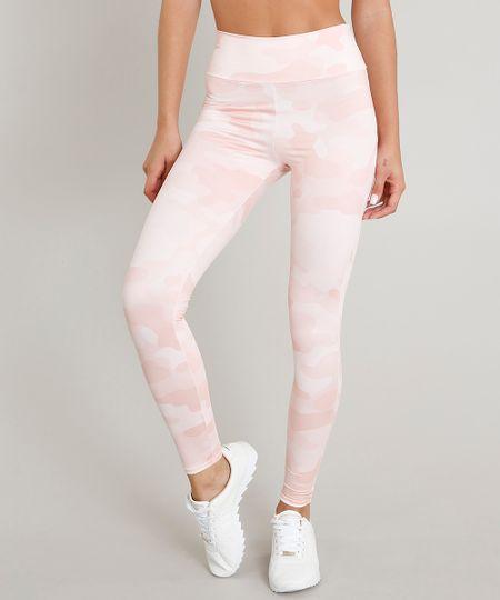 4020a9dd1c Menor preço em Calça Legging Feminina Esportiva Ace Estampada Camuflada com  Proteção UV50+ Rosa Claro