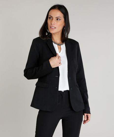 5d1b0882ea Blazer-Feminino-Acinturado-com-Bolsos-Preto-9370374-Preto 1