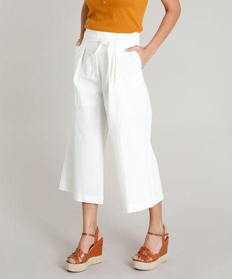Calca-Pantacourt-Feminina-em-Linho-com-Faixa-para-Amarrar-Off-White-9357653-Off_White_1