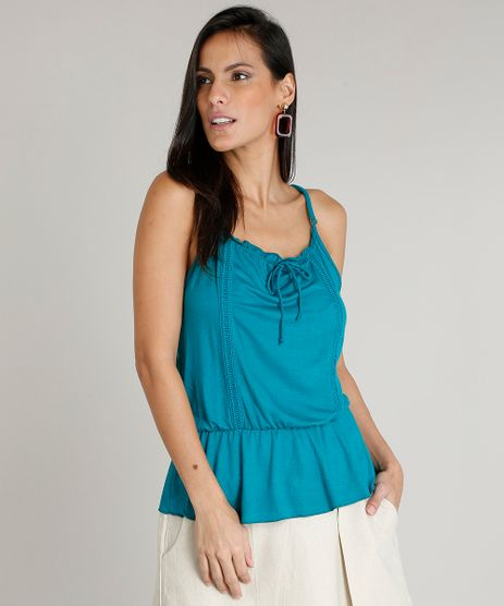 Regata-Feminina-com-Babado-Decote-Redondo-Verde-9452630-Verde_1