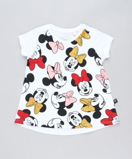 Blusa-Infantil-Minnie-com-Glitter-Manga-Curta-Decote-Redondo-Branca-9473760-Branco_1