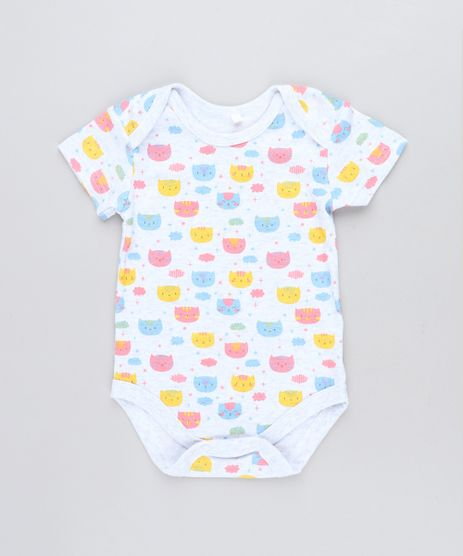 Body-Infantil-Estampado-de-Gatinhos-Manga-Curta-Decote-Redondo-Cinza-Mescla-Claro-9198407-Cinza_Mescla_Claro_1