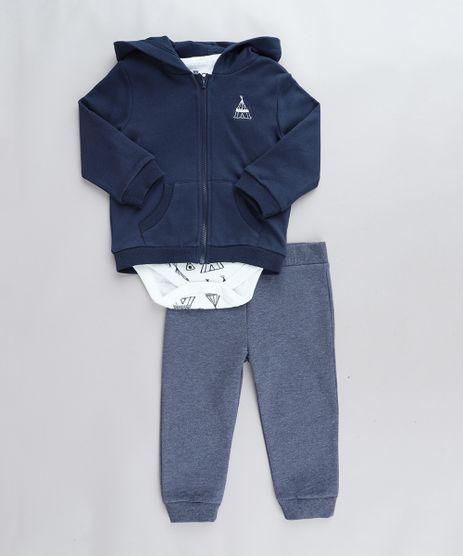 Conjunto-Infantil-de-Body-Estampado-Manga-Curta-Branco---Blusao-Azul-Marinho---Calca-em-Moletom-Azul-9205084-Azul_1