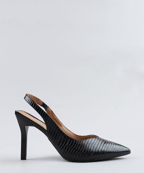 e88245cee9 Scarpin-Feminino-Vizzano-em-Verniz-Texturizado-Preto-9375557-