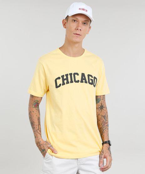 Camiseta-Masculina--Chicago--Manga-Curta-Gola-Careca-Amarela-9307567-Amarelo_1
