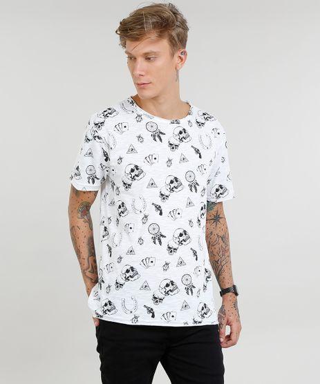 Camiseta-Masculina-Estampada-de-Caveiras-Manga-Curta-Gola-Careca-Off-White-9469493-Off_White_1
