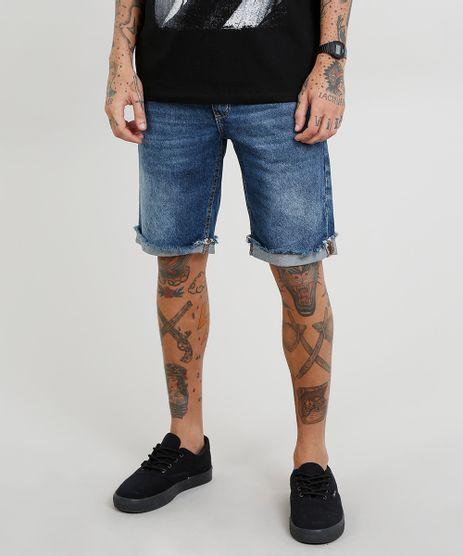 Bermuda-Jeans-Masculina-Slim-com-Barra-Desfiada-Azul-Escuro-9461776-Azul_Escuro_1