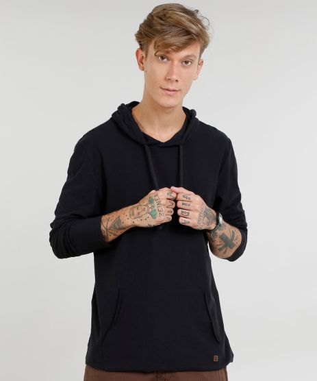 Camiseta-Masculina-com-Bolso-e-Capuz-Manga-Longa-Preta-9449766-Preto_1