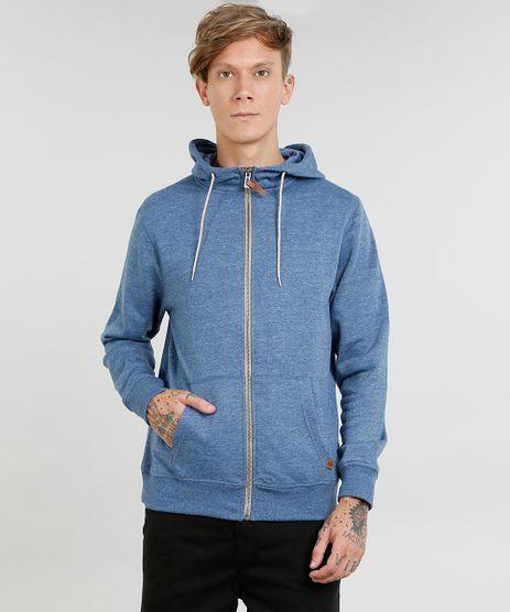 Blusao-Masculino-Basico-Mescla-em-Moletom-com-Capuz-Azul-9349276-Azul_1