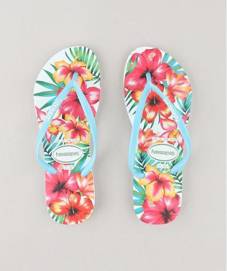 5db84e3df Chinelo-Feminino-Havaianas-Slim-Estampado-Floral-Branco-9250222- ...