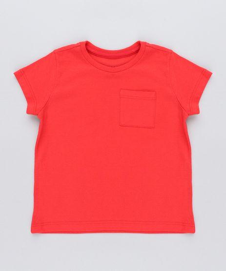 Camiseta-Infantil-com-Bolso-Manga-Curta-Gola-Careca-Vermelha-8574313-Vermelho_1
