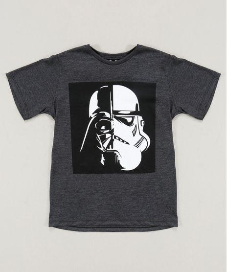 Camiseta-Infantil-Darth-Vader-Stormtrooper-Star-Wars-Manga-Curta-Gola-Careca-Cinza-Mescla-Escuro-9430600-Cinza_Mescla_Escuro_1
