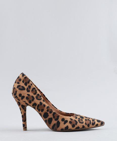 cee7885f4d Scarpin-Feminino-Vizzano-Bico-Fino-Estampado-Animal-Print-