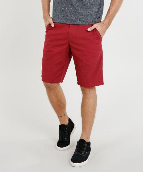 Bermuda-Masculina-Reta-Estampada-Mini-Print-com-Bolsos-Vermelha-9116111-Vermelho_1