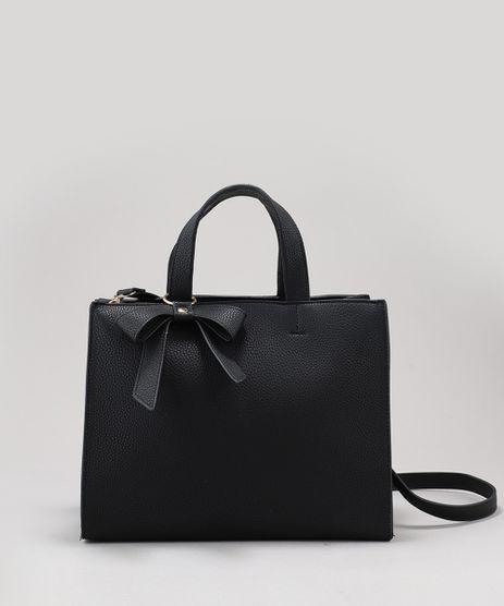 Bolsa-Feminina-Tote-com-Laco-e-Alca-Transversal-Removivel-Preta-9197796-Preto_1