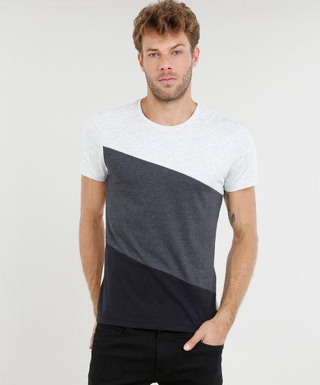 Camiseta-Masculina-Slim-Fit-com-Recorte-Manga-Curta-Gola-Careca-Cinza-Mescla-Claro-9475551-Cinza_Mescla_Claro_1