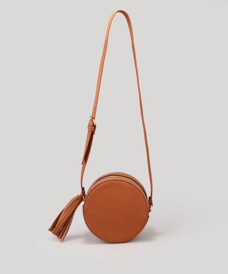Bolsa-Feminina-Redonda-Transversal-com-Tassel-Caramelo-9200576-Caramelo_1