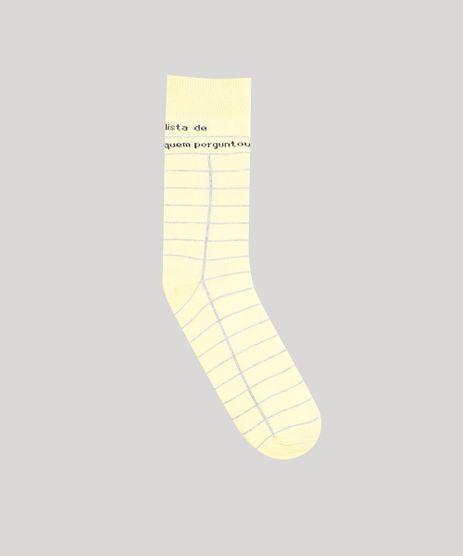Meia-Masculina-Cano-Alto-Divertida-Estampada--Lista-de-Quem-Perguntou--Amarela-9477263-Amarelo_1