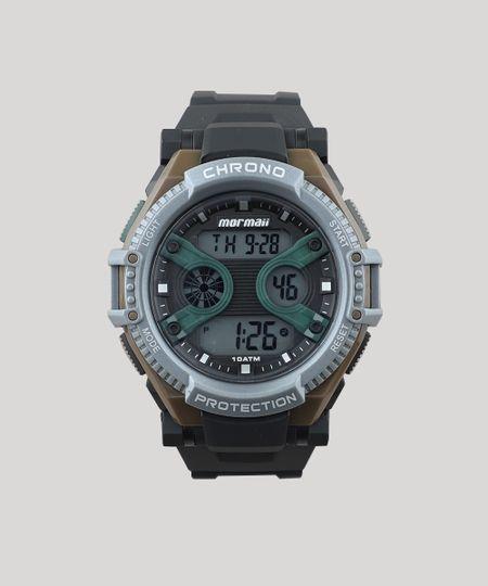 c8f854a504d Relógio Digital Mormaii Masculino - MO8590AB8V Preto - cea