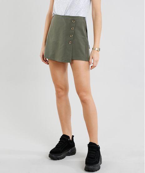 Short-Saia-Feminino-Transpassado-com-Botoes-Verde-Militar-9367219-Verde_Militar_1