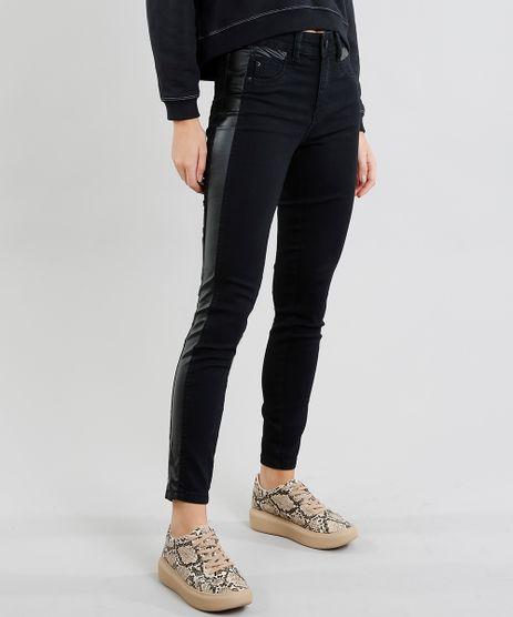 Calca-Jeans-Feminina-Sawary-Cigarrete-com-Recorte-Preta-9472029-Preto_1