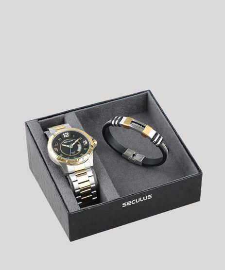 Kit-de-Relogio-Analogico-Seculus-Masculino---Pulseira---20743GPSVBA1K-Prateado-9507478-Prateado_1