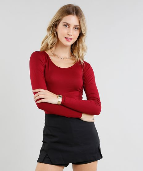 Blusa-Feminina-Basica-Manga-Longa-Decote-Redondo-Vinho-2-8578638-Vinho_2_1